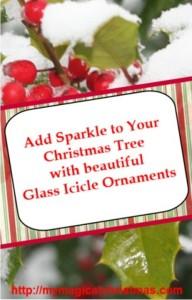 Glass Icicle Christmas Tree Ornaments