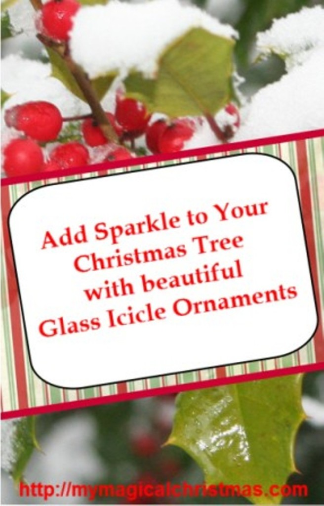 Glass Icicle Christmas Tree Ornaments