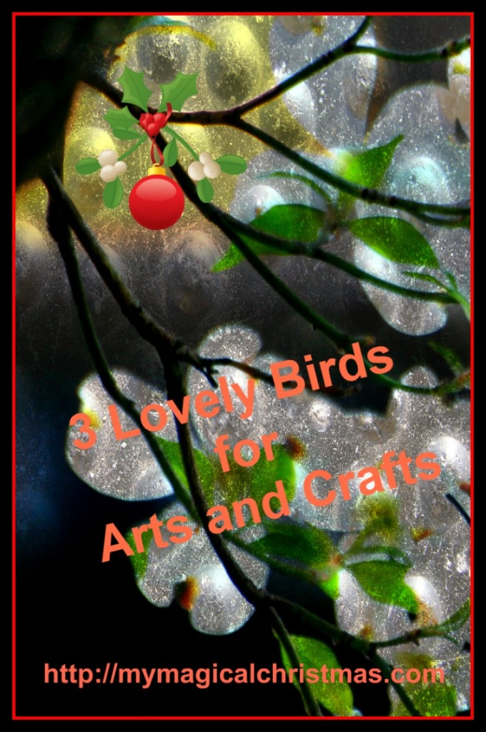 small artificial birds for crafts